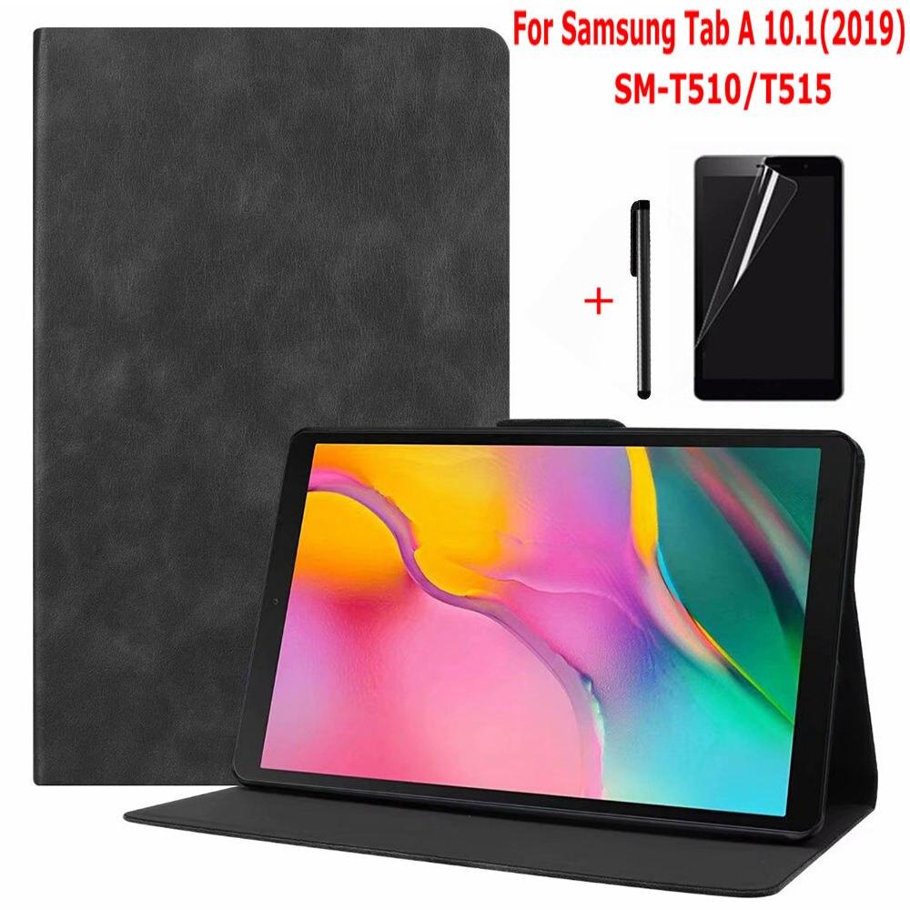 """IBuyiWin Retro magnética Folio Funda para Samsung Galaxy Tab un 10,1 de 2019 SM-T510 SM-T515 10,1 """"Tablet Funda Capa + película + Pen"""