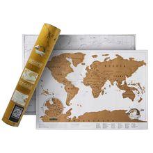 Scratch fora do mapa do mapa de viagem do mundo cartaz fácil riscar folha de ouro revela apreciado por qualquer entusiasta de viagem