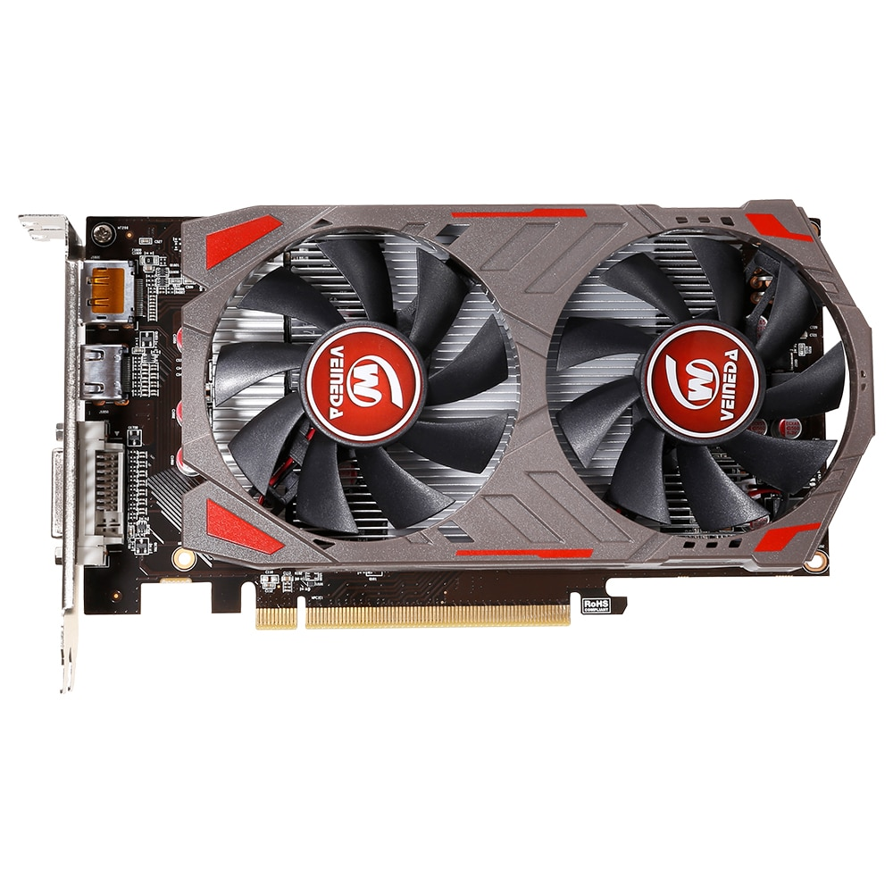 Видеокарта VEINIDA RX560D 4 ГБ GDDR5 128 бит PCI-E 3,0 HDMI DisplayPort DVI-D видеокарта для nVIDIA Geforce Games