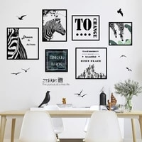 nordic style modular painting zebras wall sticker picture for living room bedroom home decoration posters and prints art