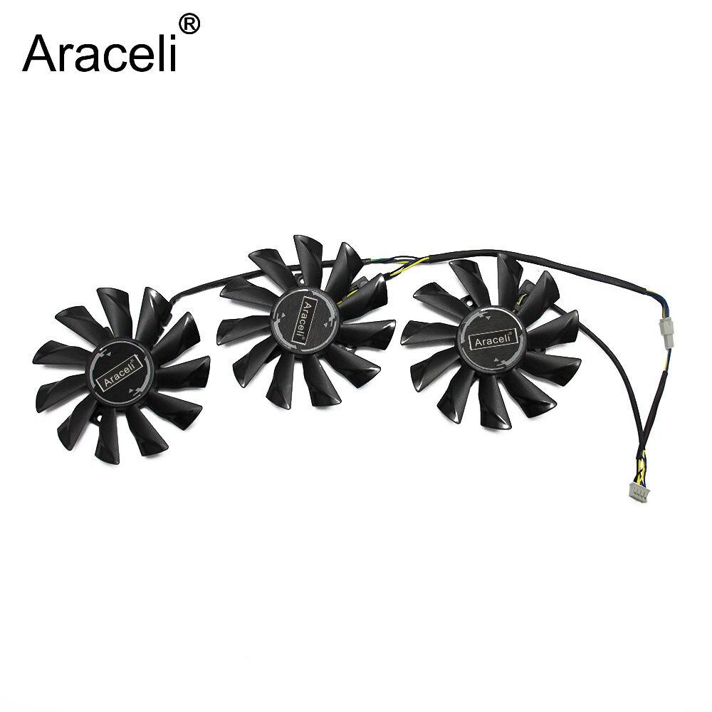 Вентилятор охлаждения для видеокарты MSI GeForce GTX 1070, 1060, 1080, 1080Ti, 980Ti, Duke, 3 шт./лот