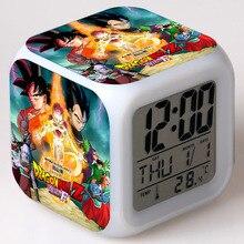 Японский Манга Жемчуг дракона z фигурки светодиодный сенсорный светильник с изменением цвета будильник настольные часы Аниме Figma Жемчуг дракона Супер Игрушки для мальчиков