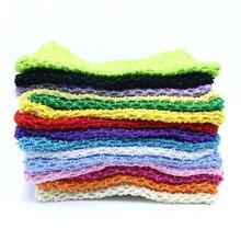 1 pc 23x25 cm 10 inch Stretching Haak Borst Wrap Meisje Stof Knit Tutu Tube met Voering DIY kinderen Rok Jurk Accessoires