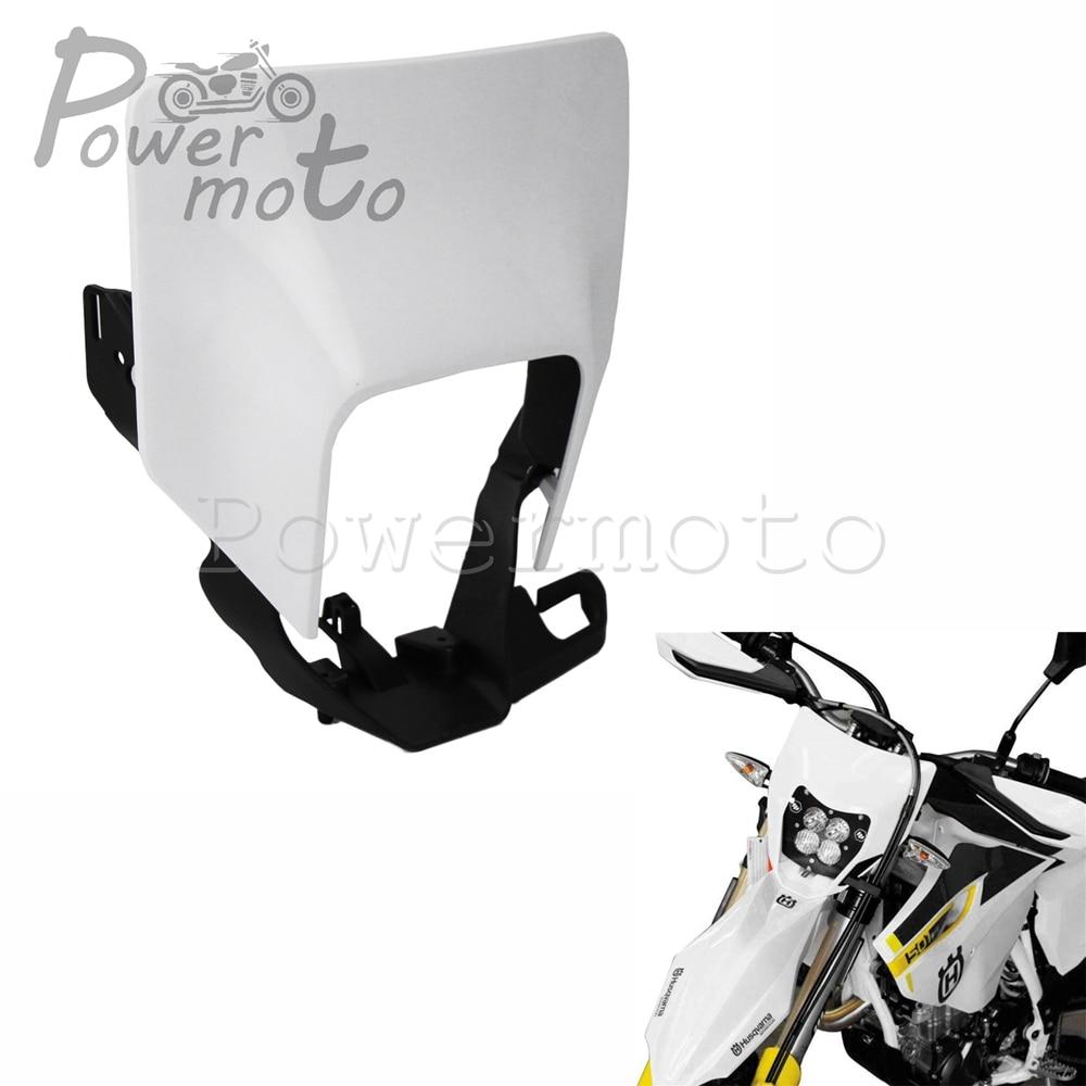 Faro de motocrós blanco faro para Husqvarna 701 Supermoto FE 250, 350, 450, 501 TX TE 125, 150, 250, 300, 2017-2018, 2019