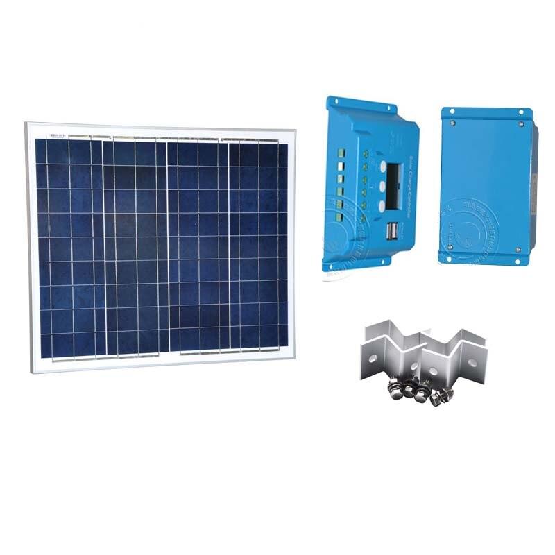 مجموعة الألواح الشمسية البحرية ، 18 فولت ، 50 واط ، 12 فولت ، 10 أمبير ، 12 فولت/24 فولت ، حامل Z ، كابل ، عربة نقل ، قارب