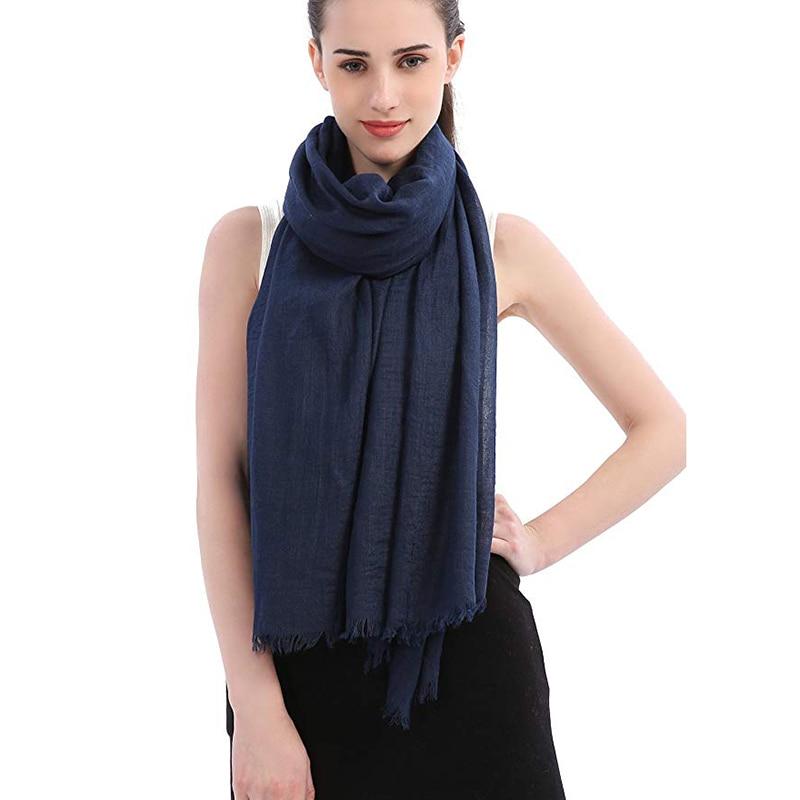 180X90 CM Bandana Mujer 2018 otoño mezcla de algodón Premium gran tamaño Hijab bufanda Mujer suave de lujo Pashmina con borla
