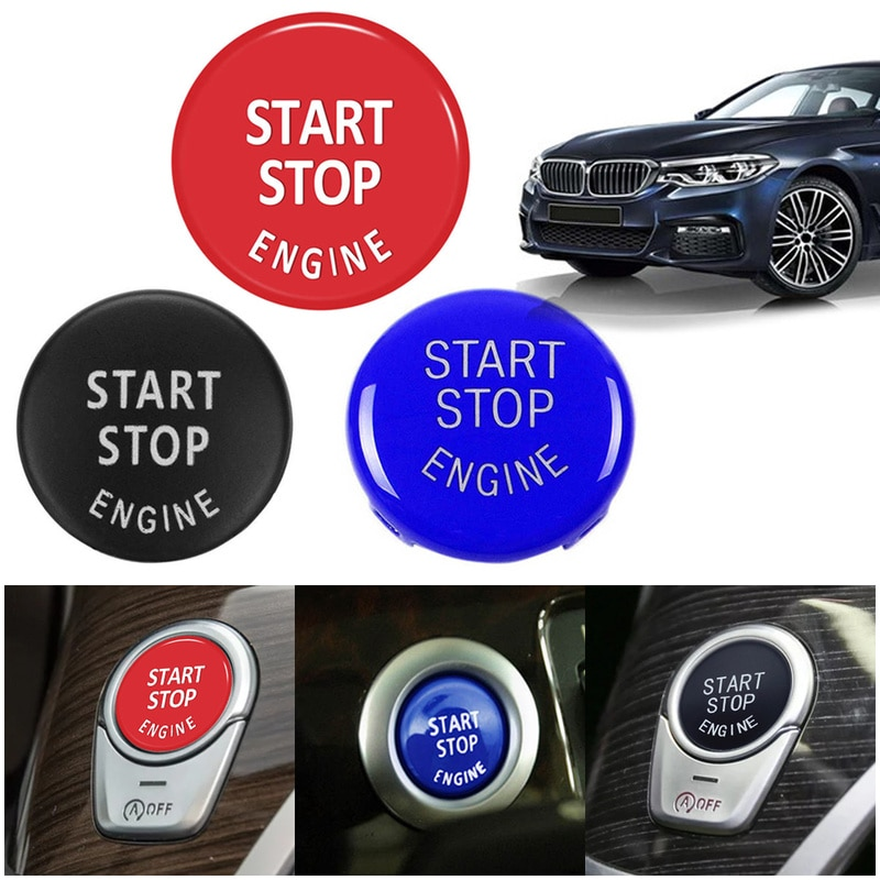 Para BMW X1 X5 E70 E71 Z4 E89 3 5 serie E90 E91 E60 coche botón de arranque y parada de motor de repuesto interruptor accesorios de decoración