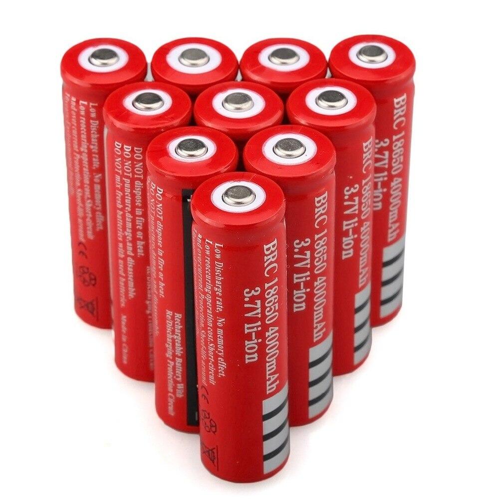 3,7 В 4000 мАч 18650 аккумулятор литий-ионный аккумулятор для светодиодного фонарика аккумуляторные батареи аккумулятор