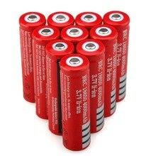 3.7 V 4000 mAh 18650 batterie Rechargeable Li-ion batterie pour torche LED lampe de poche piles rechargeables accumulateur batterie