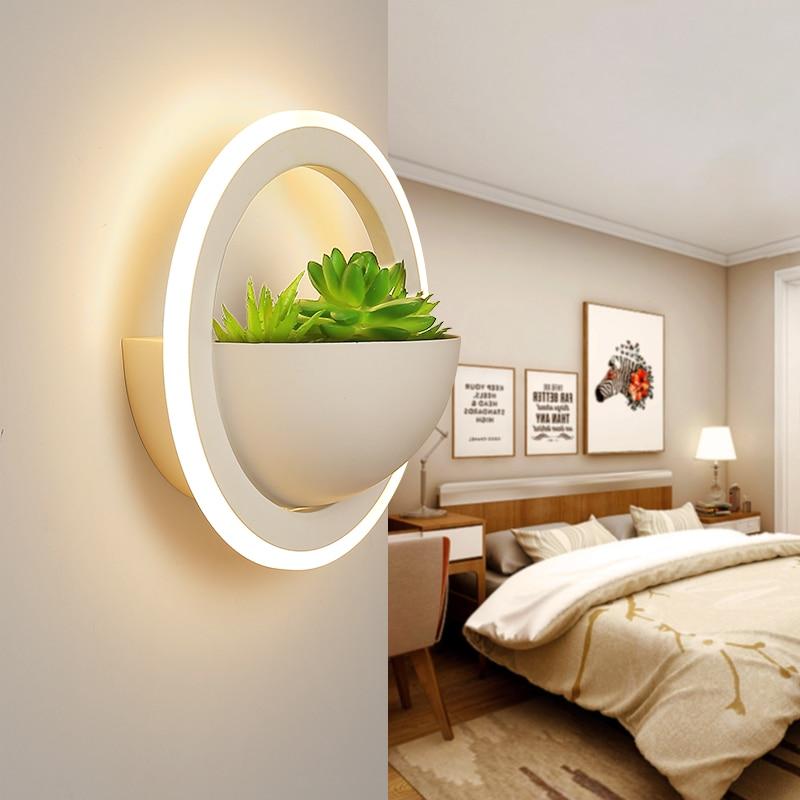Современные белые светодиодные Настенные светильники для прикроватной тумбочки, украшение для спальни, столовой, туалета, настенный свети...