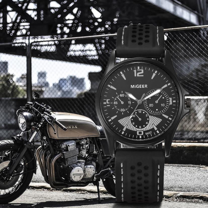 Reloj Hombre 2018 Top Marca de Moda de Luxo Do Esporte Dos Homens Relógios Militares Relógio de Quartzo montre homme Relógio Relogio masculino # C