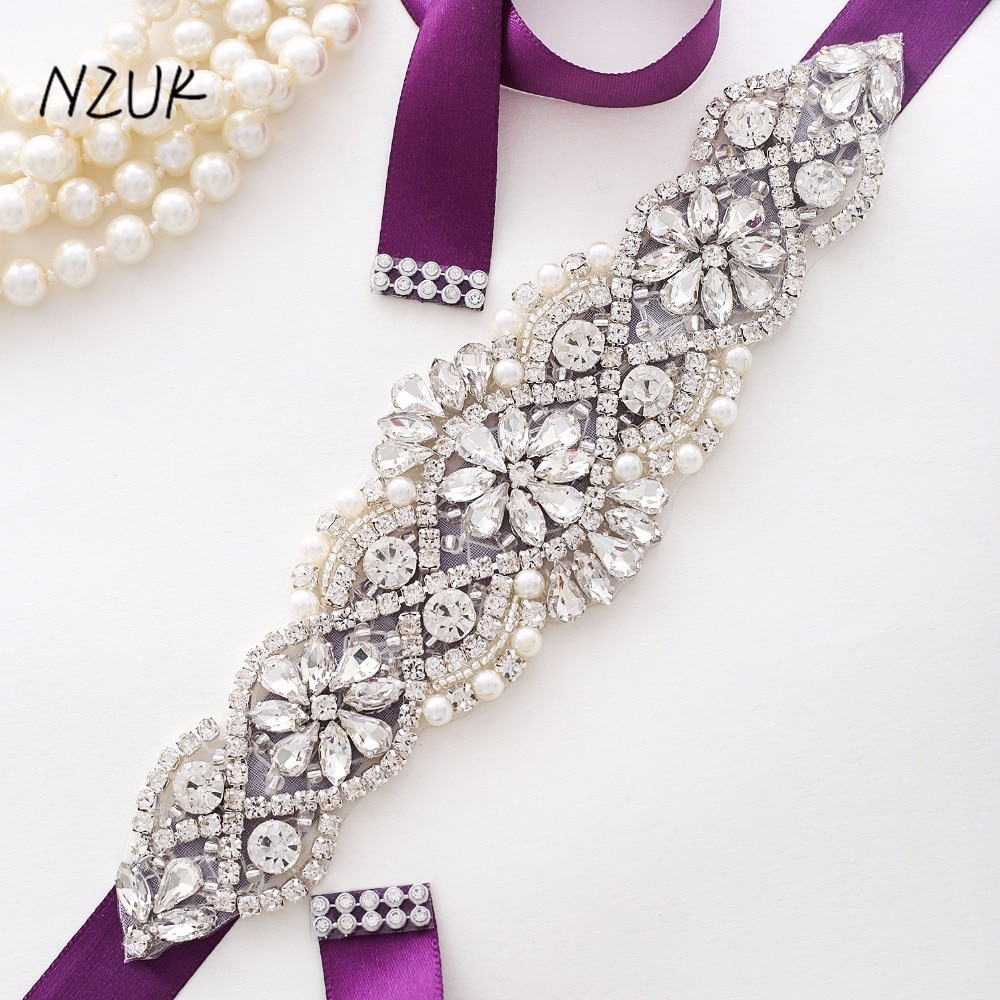 Wedding Belt Pearl Crystal Bridal Belt Rhinestones Wedding Dress Sash Cinturon Flores For Bridal Accessories Y104S