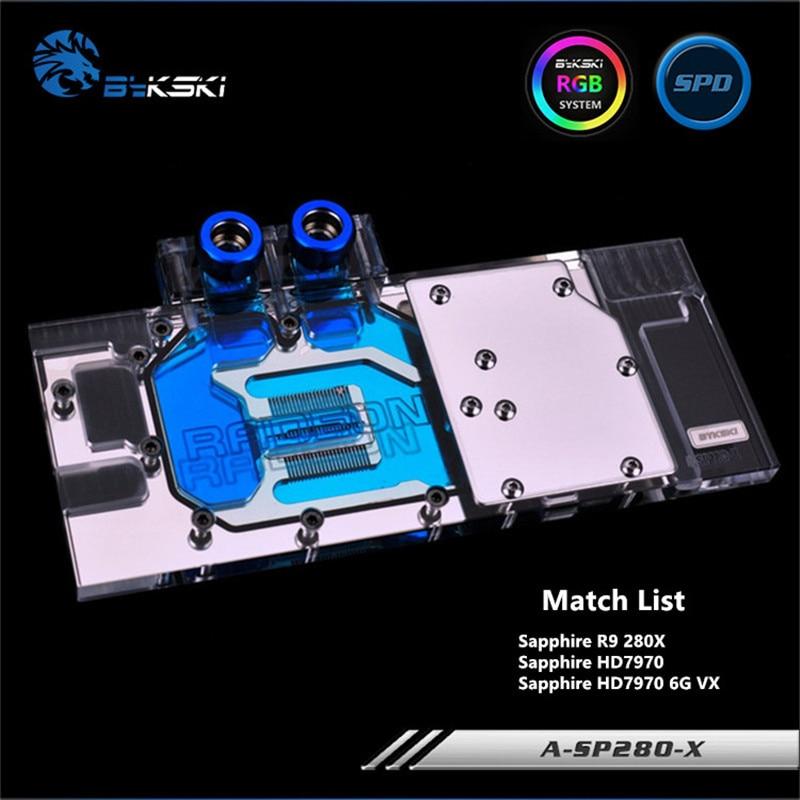 Bykski полный охват GPU Блок воды для Sapphire R9 280X HD7970 6G VXOC видеокарта A-SP280-X