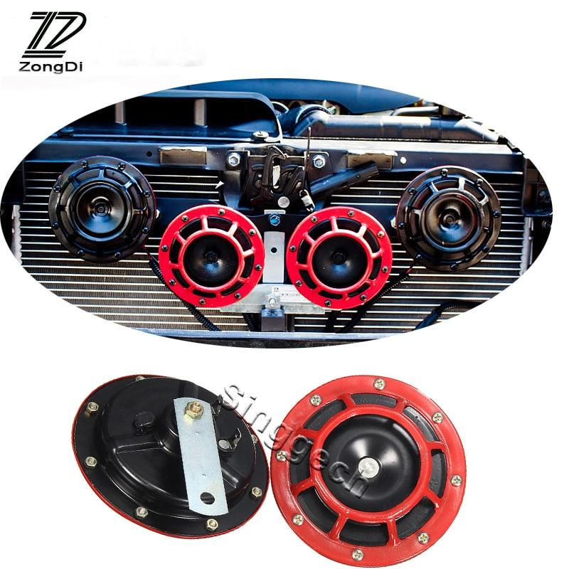 ZD 2X Car styling Para Mercedes W203 W210 W211 W204 Benz BMW F10 F20 E30 E34 X5 E70 Ar Explosão de som de alarme Chifre Vermelho tom