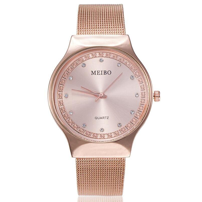 Women Watches Hot Luxury Brand New Fashion Quartz Watch Ladies Casual Stainless Steel Mesh Dress Wri
