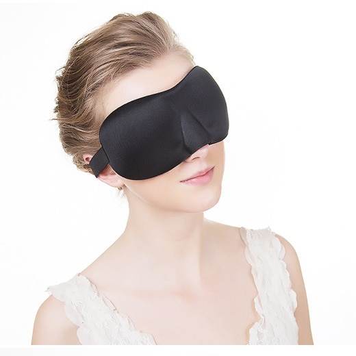 Black 3D 23*7.5cm Sleep Mask Soft Sleeping Eye Mask Night Care Breathe Massager Eyes Cover Slaapmasker Antifaz Blindfold