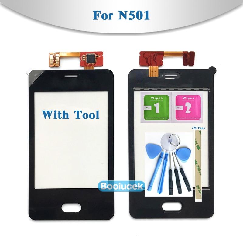 "3.0"" For Nokia Asha 501 N501 Touch Screen Digitizer Sensor Outer Glass Lens Panel Black"