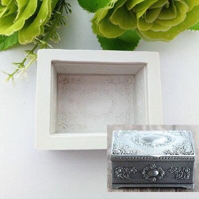 Caja de maquillaje Retro Fondant torta molde Chocolate molde para la silicona de cocina hornear azúcar decoración torta herramienta H830