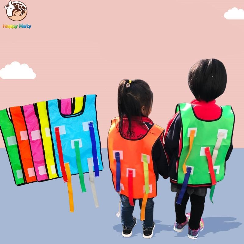 Children School Catch Tails Games Activity Kindergarten Educational Waistcoat Outdoor Toys Sports Colorful Vest Kids