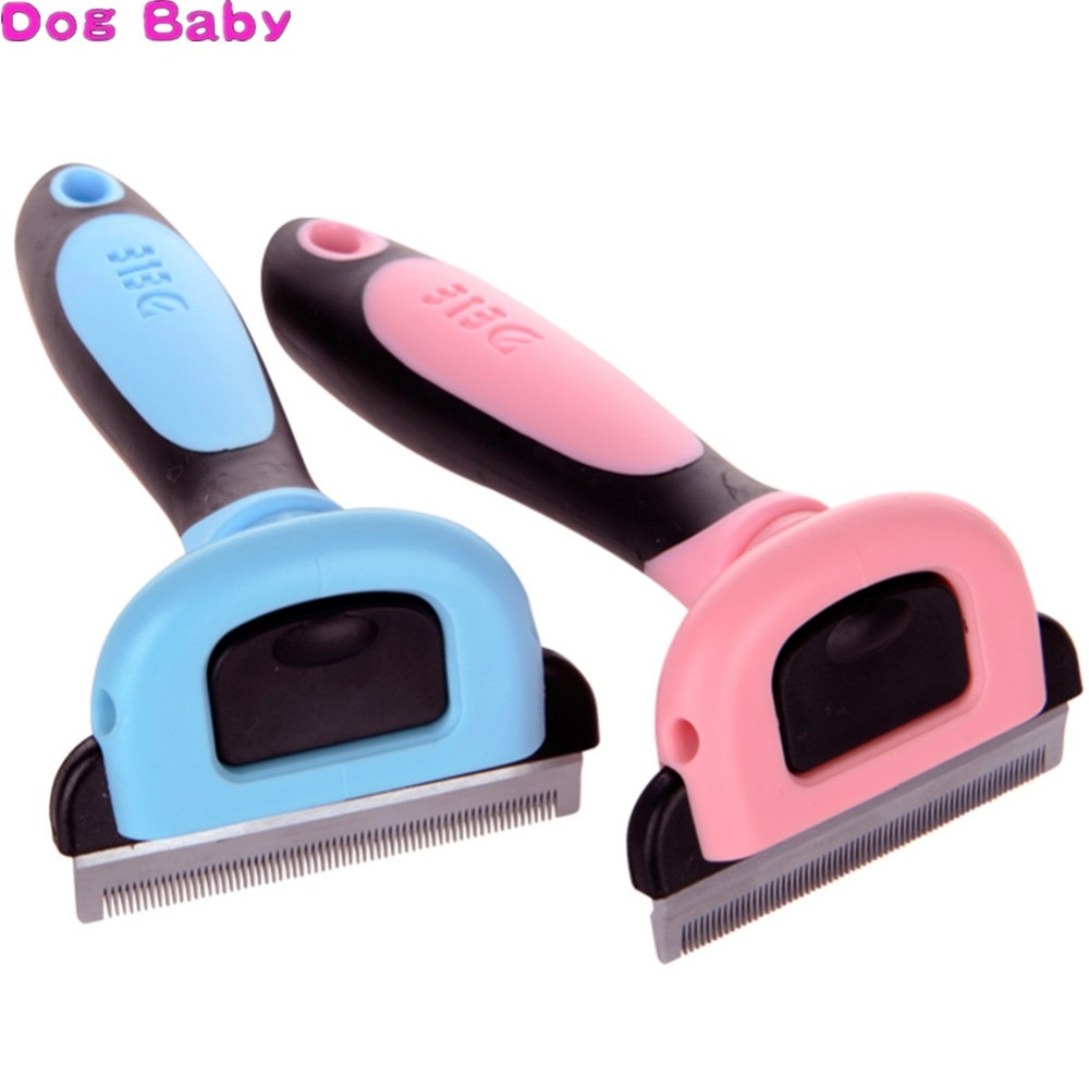 Pet Dog Removal Hair Comb Brush Cat Grooming Tool Combs Hair Deshedding Clipper Stainless Detachable Dog Cat Brush Tools