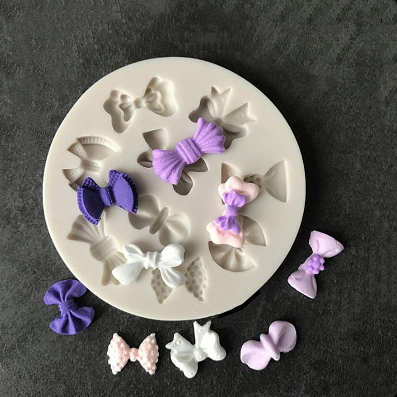 Галстук-бабочка, бант, силиконовая форма, сделай сам, сироп, торт, шоколадная форма для помадки, УФ смола, керамическая глина, аксессуары для ...