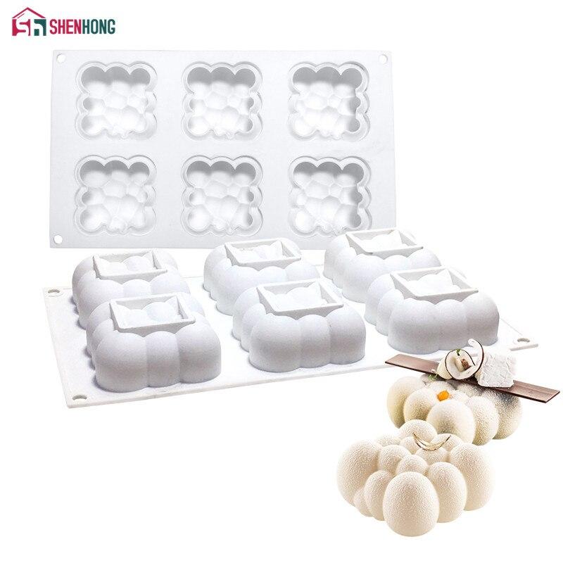 SHENHONG 6 отверстий облако силиконовая форма для торта для выпечки муссов шоколадные губки формы сковороды инструменты для украшения торта аксессуары