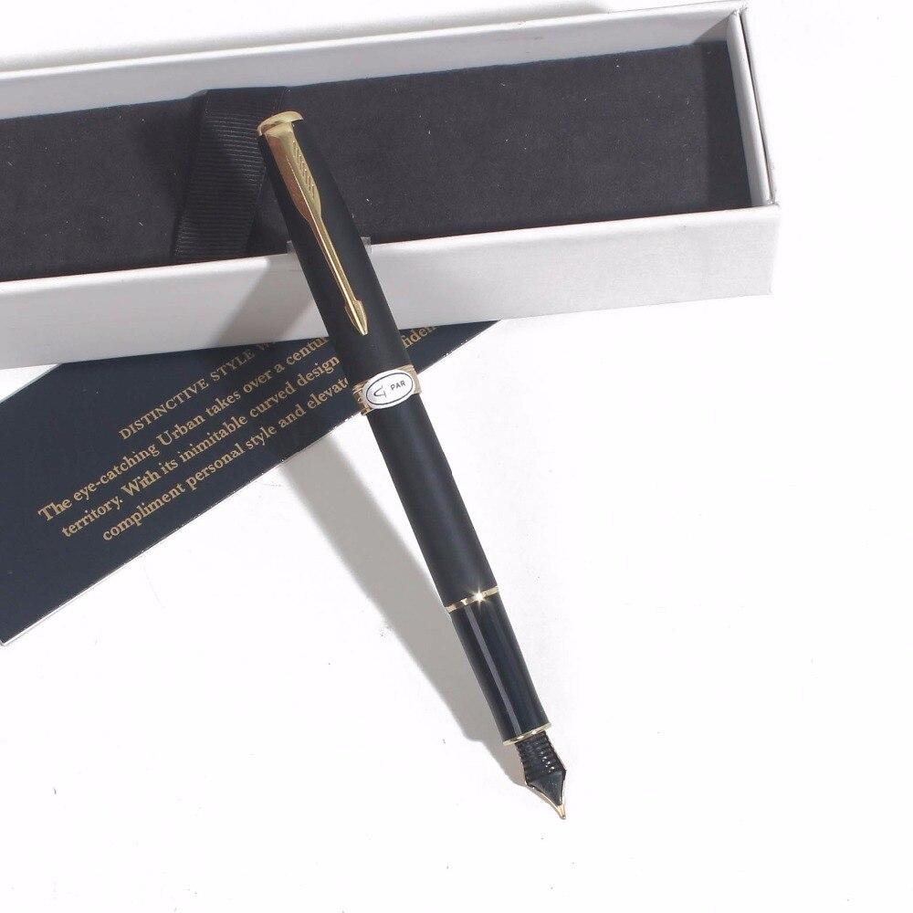 Sonneting pluma estilográfica de metal oficina escuela Bolígrafo clásico Oro Negro oro clip pluma de regalo con caja pluma negra