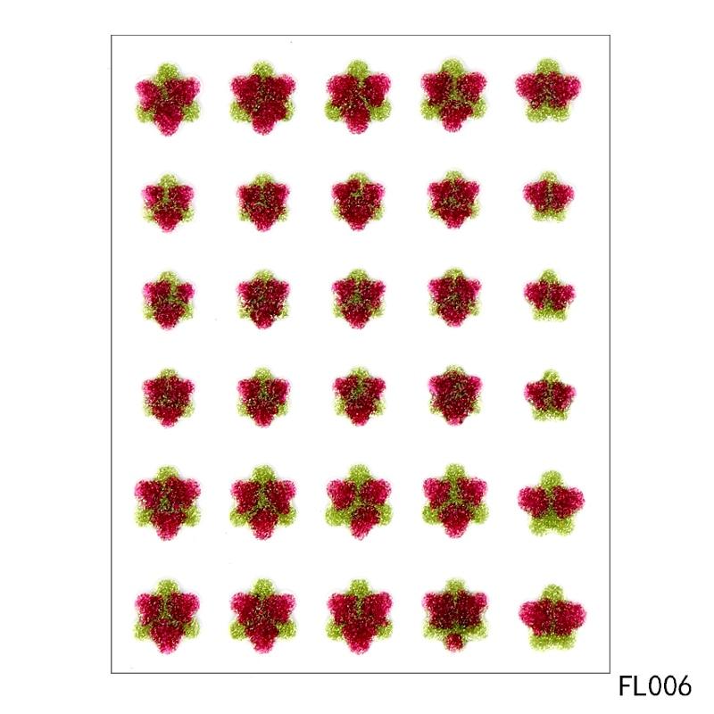 Zhuoang Sugar Sprinkles Self-adhesive Enamel Dots Resin Sticker for Scrapbooking/ DIY Crafts/ Card Making Decoration FL-006