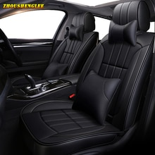 New luxury Leather car seat covers for seat alhambra altea ibiza 6l 6j leon mk2 mk3 toledo ateca arona heater Automobiles Seats