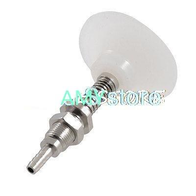 Conector de lengüeta Tubular neumático de 5mm copa de succión de vacío de silicona blanca clara 50mm rosca M11