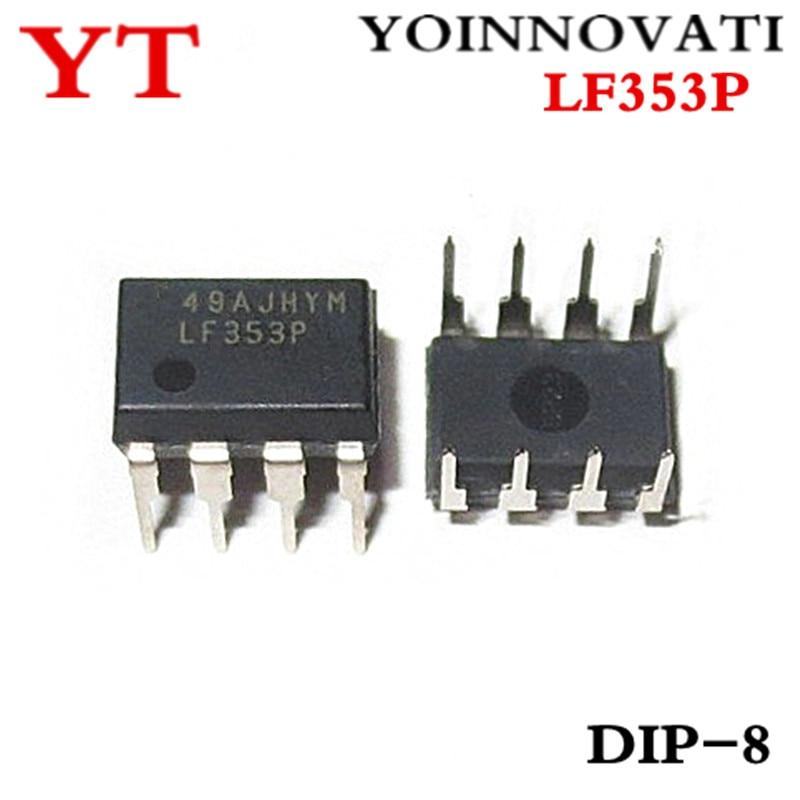 100 PÇS/LOTE LF353P LF353 353P DIP8 IC