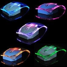 Souris optique lumineuse Ultra mince transparente de souris sans fil de 2.4GHz pour lordinateur portable ND998 de PC