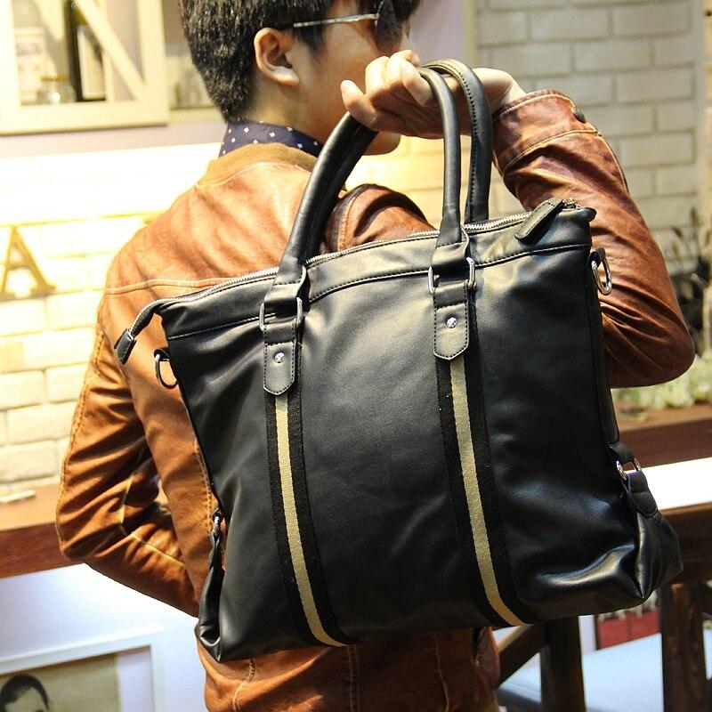 Marca de moda Xiao.P, bolsos grandes de negocios para hombres, bolso de viaje Casual de cuero de PU, bandolera mensajero para ordenador portátil