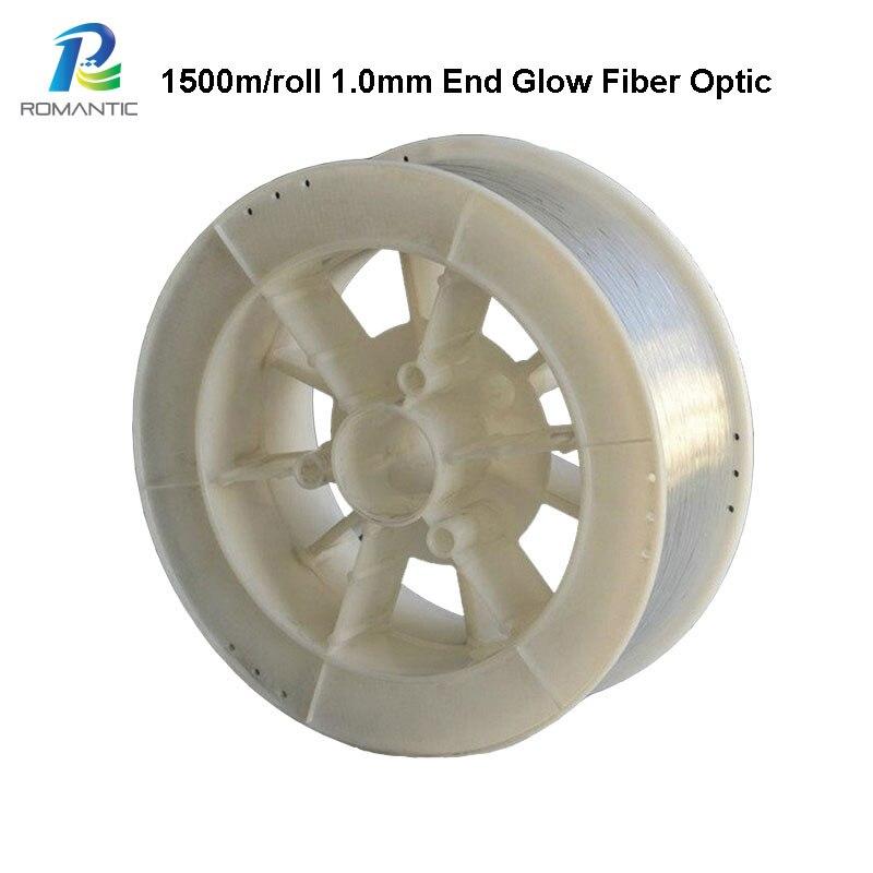 1,0mm 1500m luces Led de fibra óptica PMMA fibra óptica plástica Strands de luz cielo estrellado extremo de techo resplandor Cable de fibra óptica