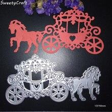 Craft Dies Heart Horse Carriage Metal CUTTING DIES Scrapbooking New 2017 Die Cut Stamps Embossing Christmas Stencil Art Cutter