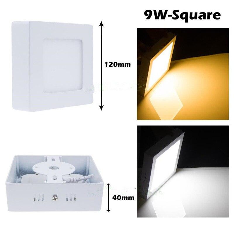 diodo emissor de luz do painel de superficie ac85 265v 2835smd 9 w cozinha luz de