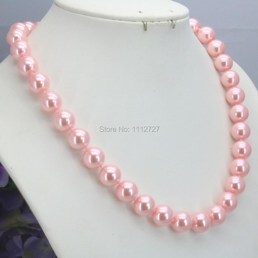 Special Offer Weihnachten Geschenke Mädchen 10mm Rosa Glas Perle Perlen Halskette Schmuck Machen Design Für Frauen Handgemacht Ornamente