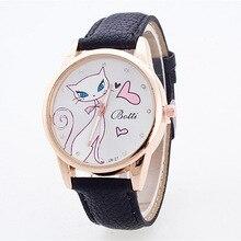 2020 nouvelle marque de mode Bracelet en cuir femme décontracté Bracelet montres chat amour modèle femme montre dames montre reloj mujer
