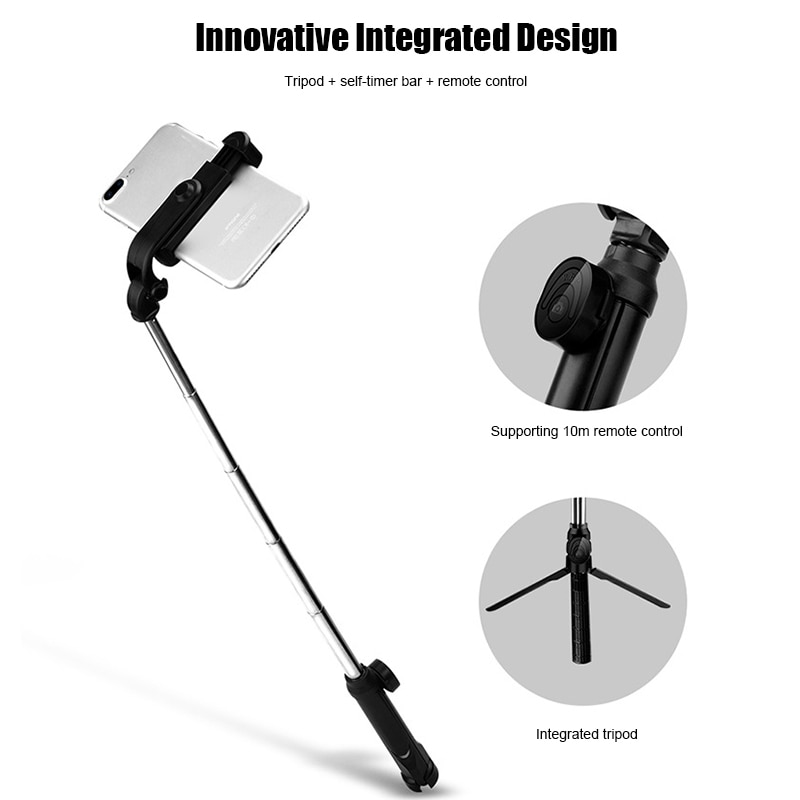Selfie stick 4 In 1 Wireless Bluetooth Selfie Stick with Remote Control for iPhone Samsung Huawei JR Deals Selfie stick