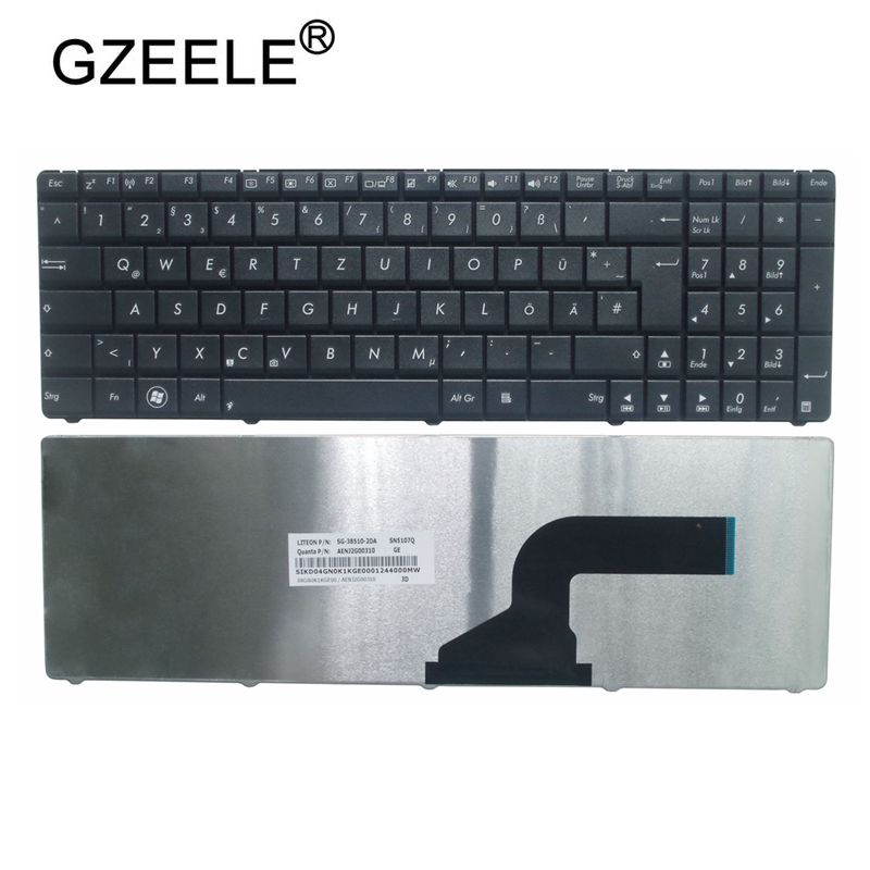 Замена клавиатуры для ноутбука GZEELE, немецкая клавиатура Qwertz GE для Asus A52N B53 F55A F55C F75 F75A F75V N52 N73JF N73JG