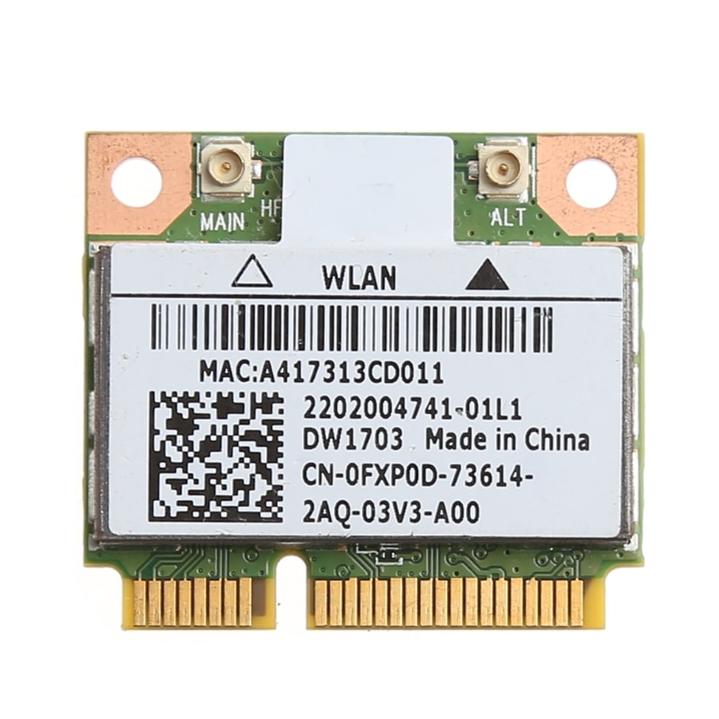 Bluetooth V4.0 sans fil Mini pci-express carte pour Atheros AR5B225 DELL DW1703