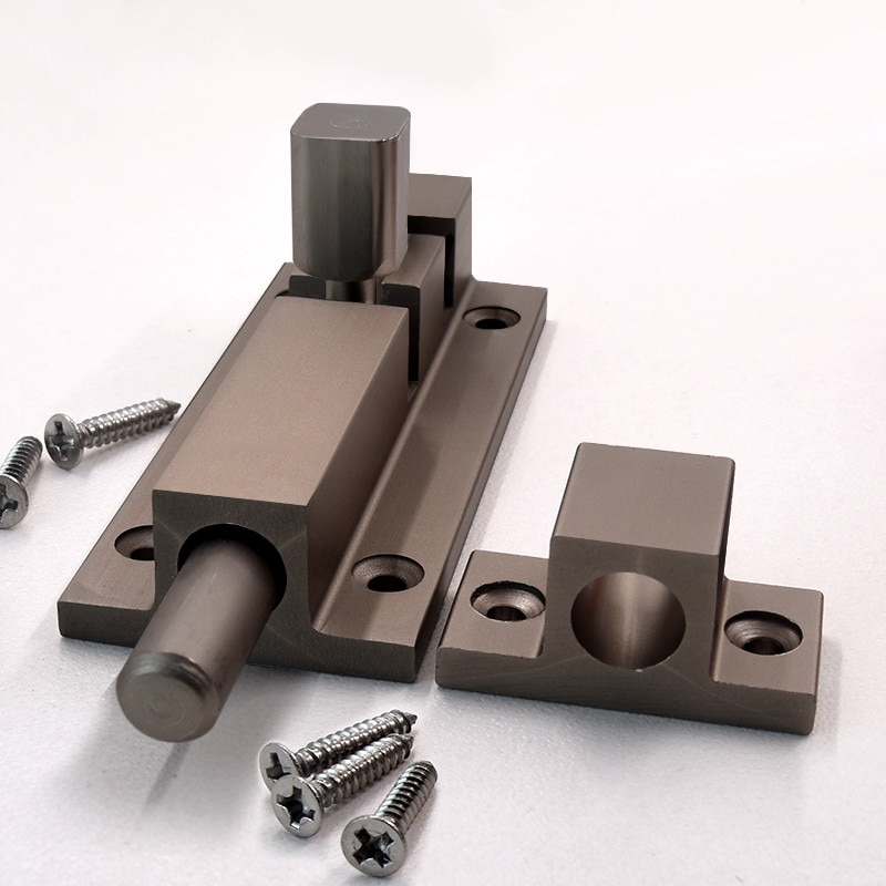 Stainless Steel Professional Lock Picks Sliding Window Door Catch Lock Bolt Latch Barrel Home Gate Safety Hardware & Screw Latch