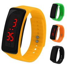 Children Student Electronic LED Sport Silicone Watchband Wrist Watch Men and Women Male And Female S