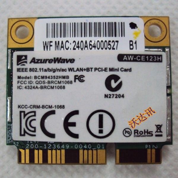 SSEA для BroadCom AW-CE123H BCM4352 BCM94352HMB Половина Mini PCI-E 802.11ac Wifi BT 4,0 2,4G/5,0 GHz оригинальная беспроводная карта 867 Мбит/с