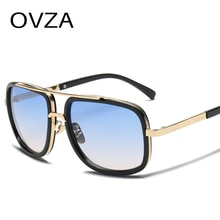 Gafas de sol OVZA rectangulares Vintage para hombre, gafas de sol con espejo fresco para mujer, UV400 gafas Retro, gafas de alta calidad de estilo clásico S3063