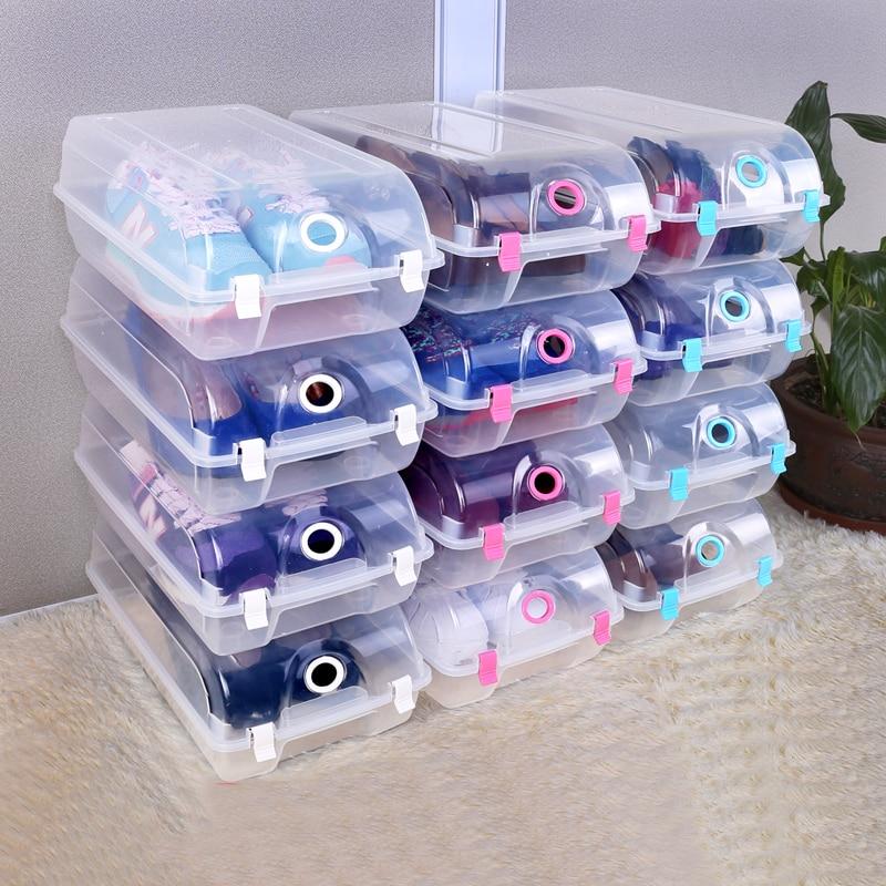 صندوق تخزين أحذية بلاستيك PP ، رف أحذية قابل للتكديس ، 9 قطع