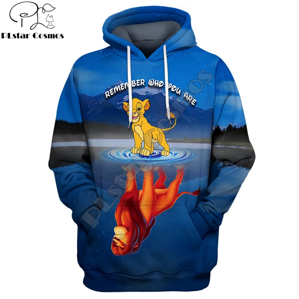 PLstar Cosmos 2019 New Fashion Men hoodies The Lion King movie  cute Simba 3D Printed Unisex streetwear Sweatshirt/zipper hoodie