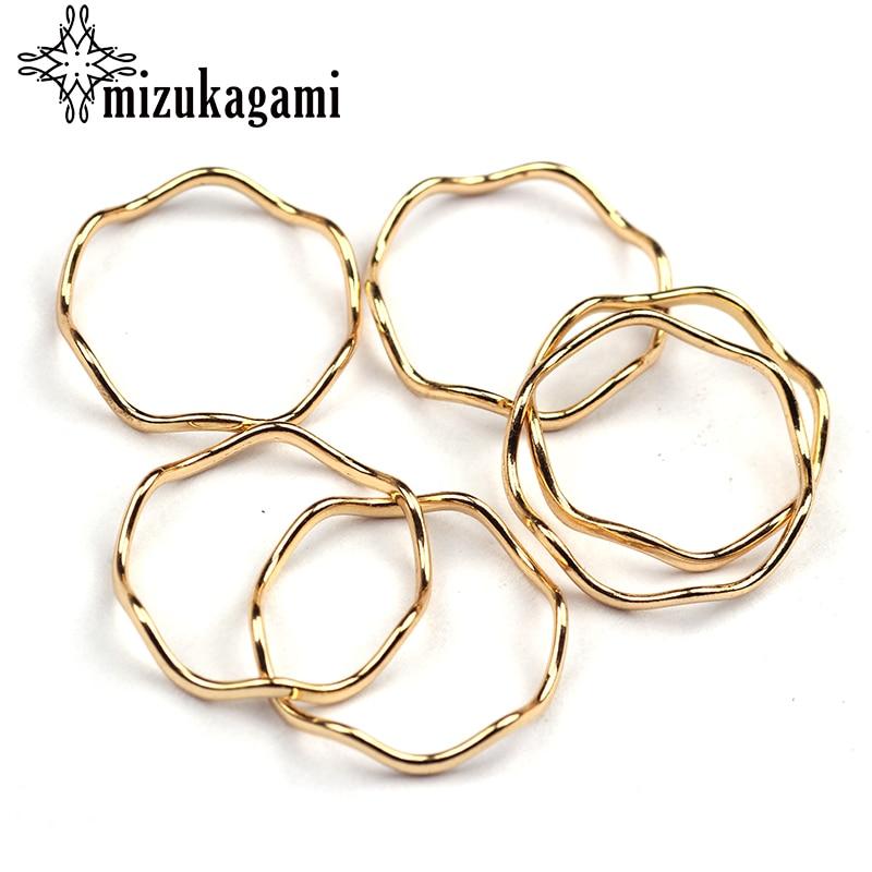 10pcs/lot Zinc Alloy Circle Ring Gold Metal Frame Pendant Gold Charms Bezel Setting Cabochon Setting UV Resin Charms