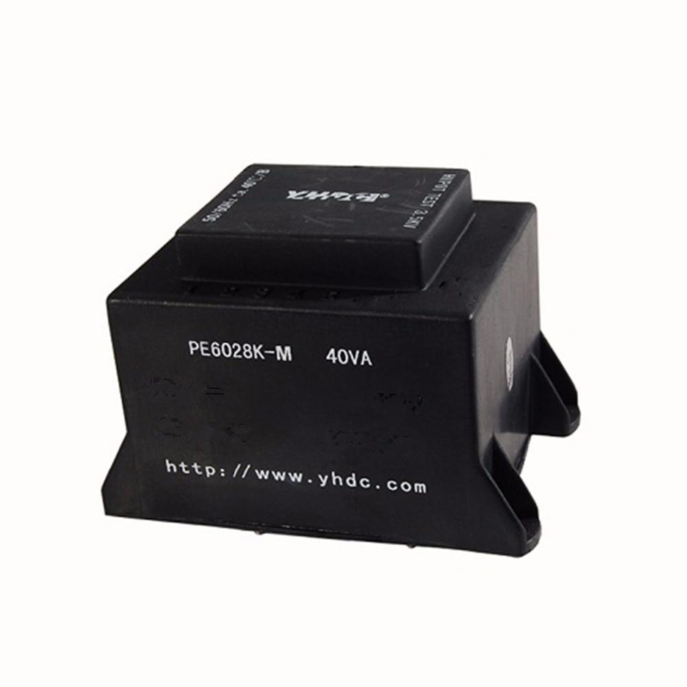Transformador de soldadura de PCB encapsulado PE6028K-M 40VA/220 V/12 V