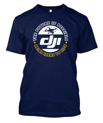 DJI el futuro del posible Drone pilot-camiseta personalizada para hombres, camiseta impresa, camiseta de manga corta para hombres